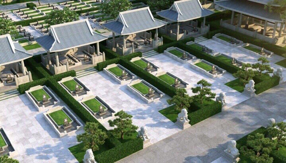 Khu mộ gia tộc Sala Garden có mái che tối đa được 12 phần mộ