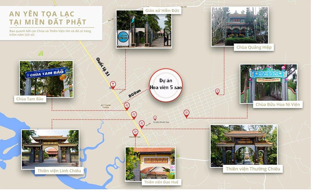Dự án hoa viên 5 sao nằm tại trung tâm tôn giáo của Long Thành