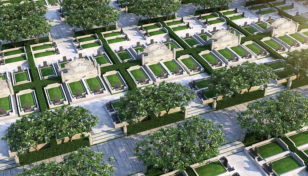 Mộ gia tộc Sala Garden diện tích 48m2 chứa tối đa 8 phần mộ