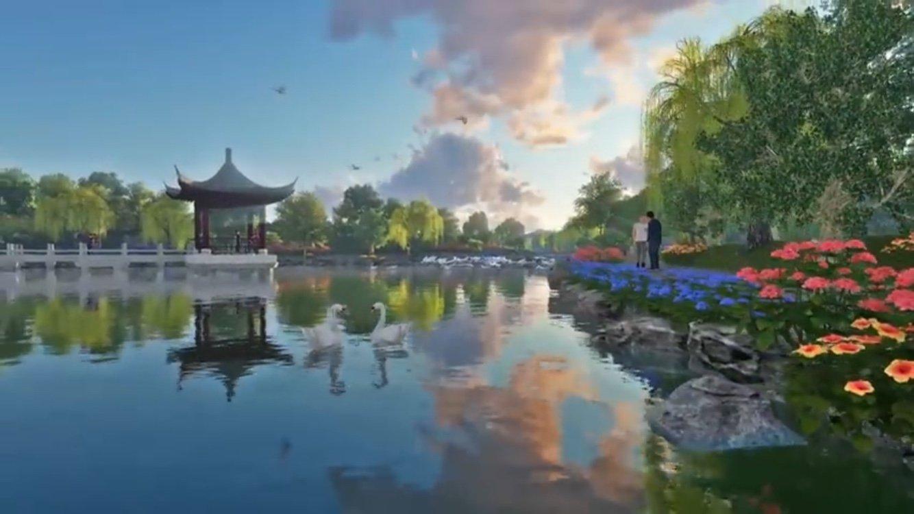 Hồ tịnh tâm dự án hoa viên 5 sao Sala Garden