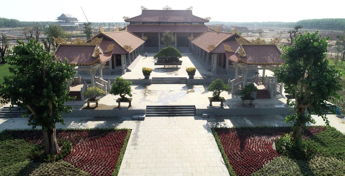 Hình ảnh thực tế ngôi chùa tại dự án